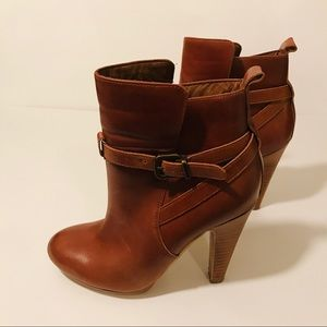 Aldo Brown Leather Booties Boot